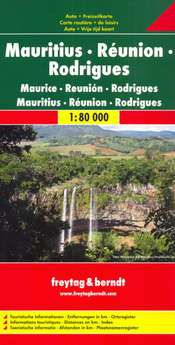 Mauritius, Reunion, Rodrigues Travel Map by Freytag & Berndt