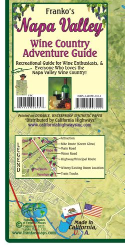 Napa Valley Wine & Guide Map by Franko