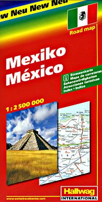 Mexico Travel Map by Hallwag