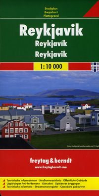 Reykjavik Street Map by Freytag & Berndt
