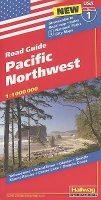 Pacific Northwest Folded Road Map