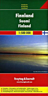 Finland Travel Map by Freytag & Berndt