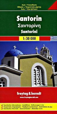 Santorini Travel Map by Freytag & Berndt