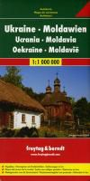 Ukraine & Moldova Travel Map by Freytag & Berndt