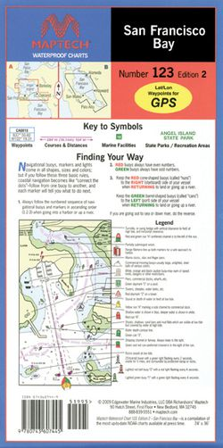 San Francisco Bay Nautical Chart by Maptech