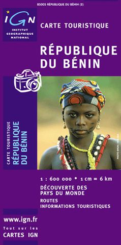 Benin Travel Map by IGN