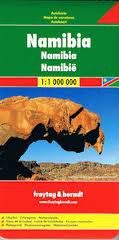 Namibia Travel Map by Freytag & Berndt