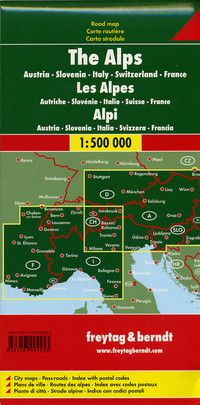 Alps Travel Map by Freytag & Berndt