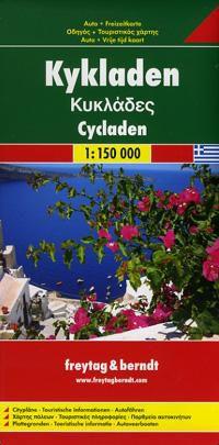 Cyclades Travel Map by Freytag & Berndt