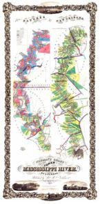 Antique Map of Mississippi River 1858