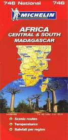 Africa, Central & South Travel Map by Michelin