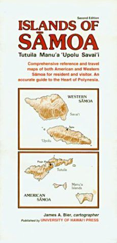 Samoa Islands Travel Map by Univ. of Hawaii Press