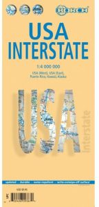 United States Interstate Map by Borch
