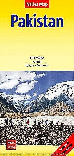 Pakistan Travel Map by Nelles