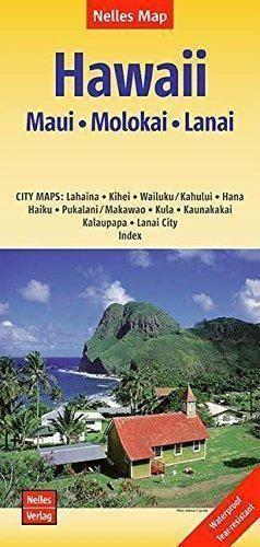 Maui, Molokai & Lanai Travel Map by Nelles