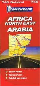 Africa NE & Arabia Travel Map by Michelin