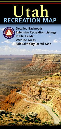 Utah Recreational Road Map by Benchmark
