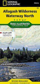 Allagash Wilderness Waterway North Map - ME