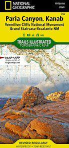 Paria Canyon - Kanab National Geographic Map - AZ/ UT