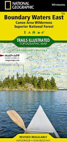 Boundary Waters Wilderness Area East Canoe Map - MN