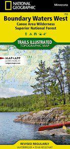 Boundary Waters Wilderness Area West Canoe Map - MN