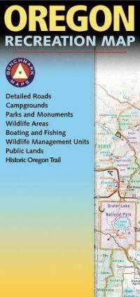 Oregon Recreational Road Map by Benchmark