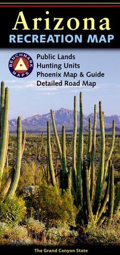 Arizona Recreational Road Map by Benchmark