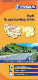 Paris & Surrounding Areas Regional Map, 514 by Michelin