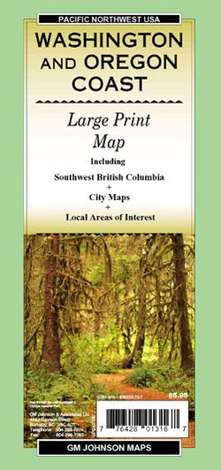 Washington & Oregon Coast Road Map by GMJ