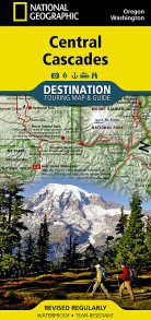 Central Cascades Touring Map by National Geographic