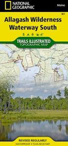 Allagash Wilderness Waterway South Map - ME