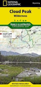Cloud Peak Wilderness Map - WY
