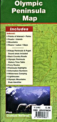 Olympic Peninsula Road & Travel Map
