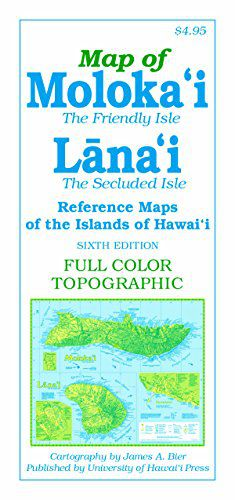 Molokai & Lanai Travel Map by UHP