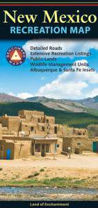 New Mexico Recreational Road Map by Benchmark
