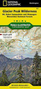 Glacier Peak Wilderness Map - WA