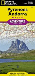 Pyrennes & Andorra Travel Map by National Geographic