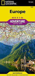 Europe Adventure Map by National Geographic