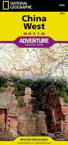 China West Travel Map by National Geographic