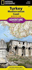 Coast of Turkey Travel Map by National Geographic