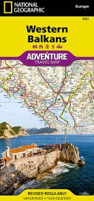 Western Balkans Adventure Travel Map by National Geographic