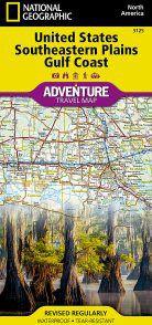 US Southeastern Plains & Gulf Coast Adventure Map
