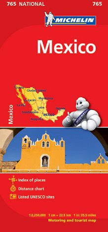 Mexico Travel Map by Michelin