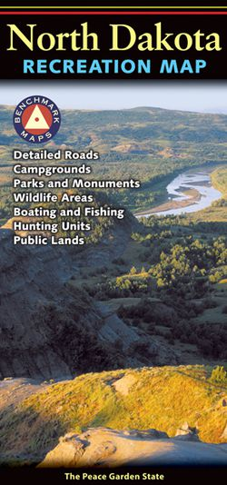 North Dakota Recreational Road Map by Benchmark