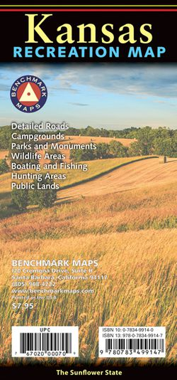 Kansas Recreational Road Map by Benchmark