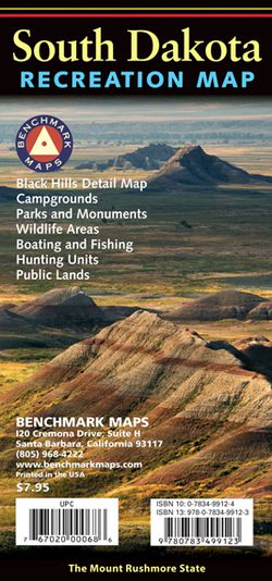 South Dakota Recreational Road Map by Benchmark