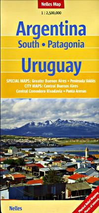 Argentina South (Patagonia) Travel Map by Nelles