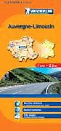 Auvergue, Limousin Regional Map, 522 by Michelin