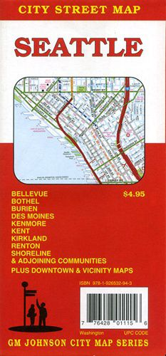 Seattle Street Map by GM Johnson