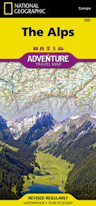 Alps Travel Map by National Geographic